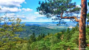 Výhled z Plešivce na západ
