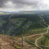 Výhled na Obří sedlo a Úpské rašeliniště
