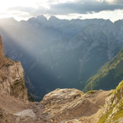 Pohled do údolí Zadnjica