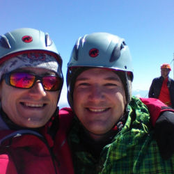Radost z dosažení vrcholu hory Triglav