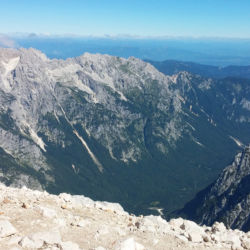 Výhledy z vrcholu hory Triglav