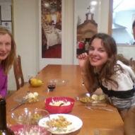Vaření a společná večeře s kamarádkami z Polska a Itálie