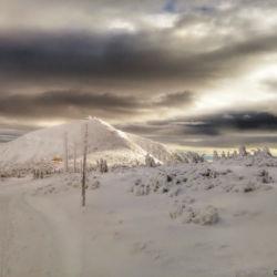 Výhled na Sněžku z Úpské hrany